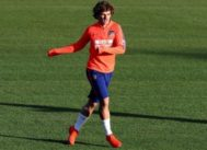 Griezmann, durante el entrenamiento del viernes del Atlético en Majadahonda.