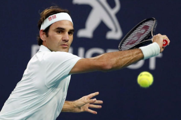 RWX11. Miami (United States).- Roger <HIT>Federer</HIT> of Switzerland...