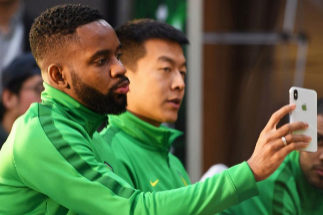 El ex del Villarreal, Cedric Bakambu, en la Super Liga china.