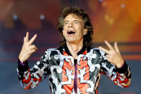 Mick Jagger, cantante de Rolling Stones, durante un concierto en...