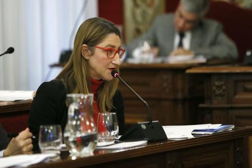 La concejal de Urbanismo, Mari Carmen de España, en un pleno.