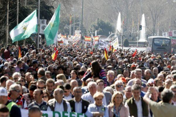 Manifestación del entorno rural el pasado 3 de marzo en Madrid.
