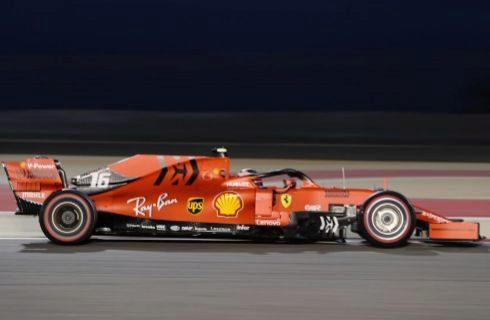 Leclerc, durante la clasificación en Sakhir.