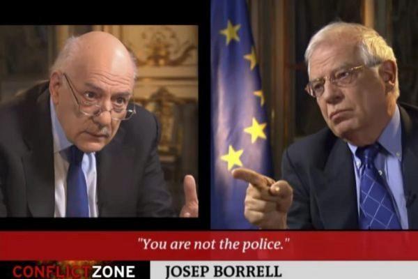 Ministro de Exteriores Josep Borrell en la televisión alemana detiene la entrevista realizada en el programa Conflict Zone DW por Tim Sebastian.