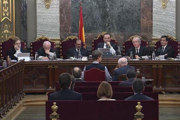 La sala el Tribunal Supremo donde se desarrollo el juicio por la causa del 1-O.