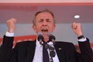El candidato del partido socialdemócrata CHP para la alcaldía de Ankara, Mansur Yavas.