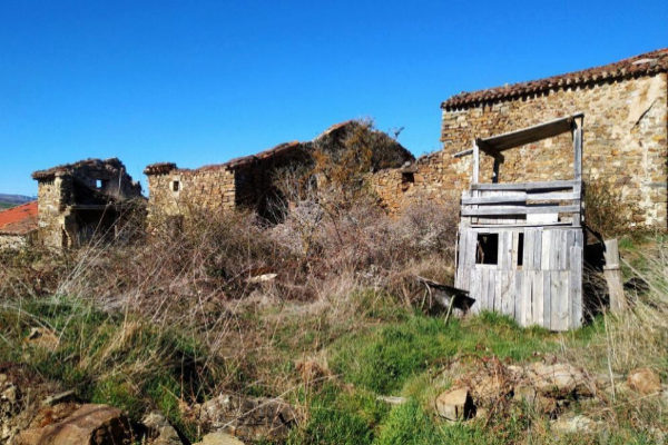 El pueblo de Sarnago, en la comarca de Tierras Altas de Soria.