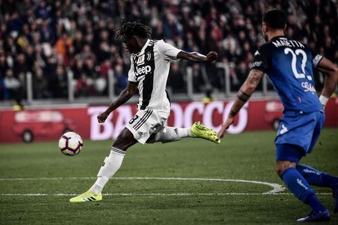 Kean, en la acción del gol triunfo ante el Empoli.