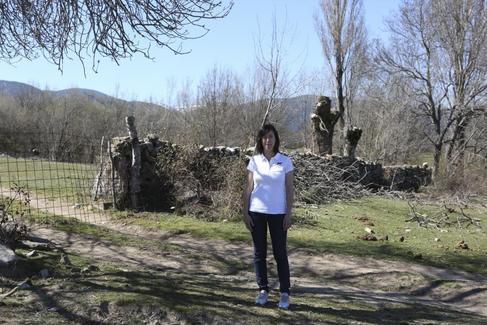 Eva María García, copropietaria de la empresa cárnica Pedro García, en Gallegos