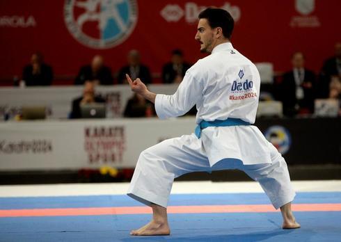 Damián Quintero, durante la competición de kata individual.