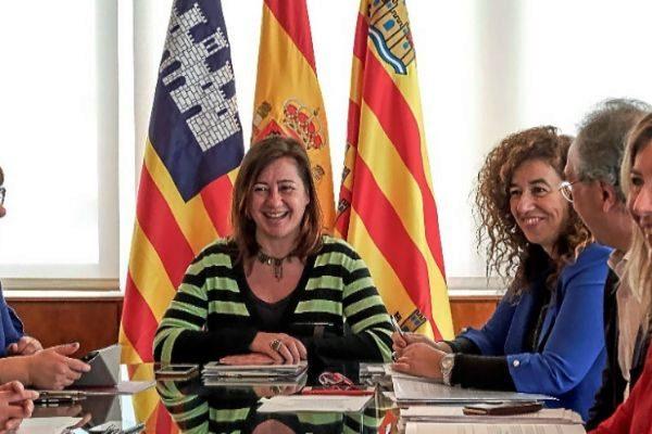 Francina Armengol, durante un Consell de Govern en Ibiza.