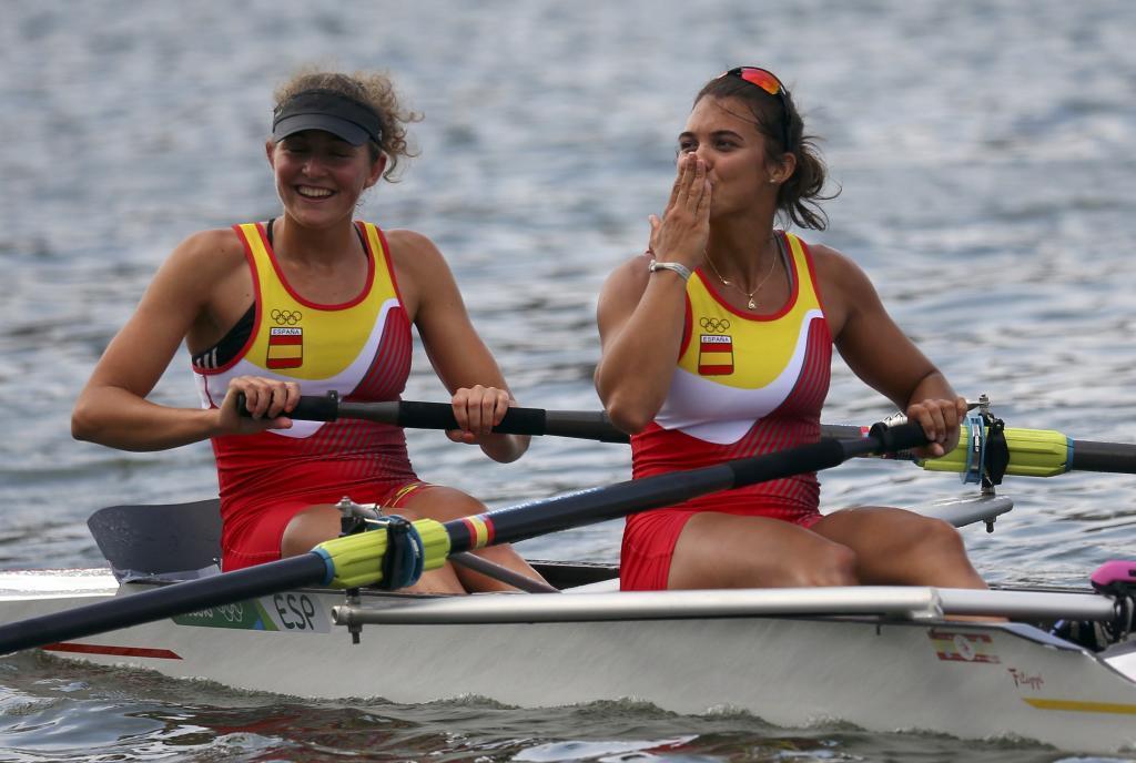 Anna Boada (izda) y Aina Cid, durante los Juegos Olímpicos de Río.