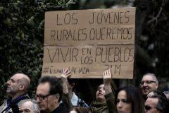 Manifestación de las plataformas rurales bajo el lema de 'Revuelta de la España Vaciada'.