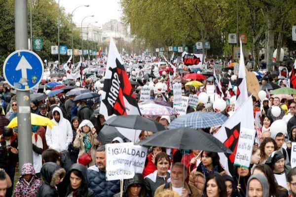 Imágenes de la manifestación La España vaciada.