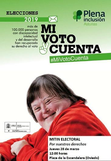 Cartel animando al voto a los discapacitados.