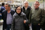 La viuda del trabajador fallecido por el amianto, antes del juicio.