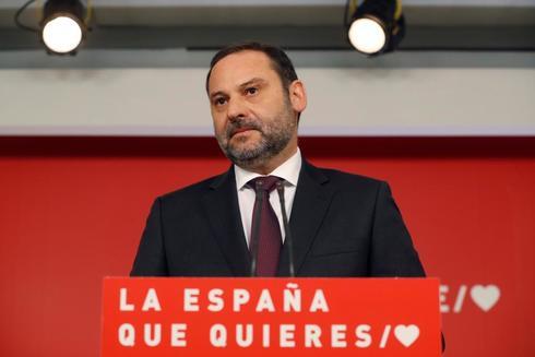 José Luis Ábalos, en la rueda de prensa celebrada hoy en Madrid.