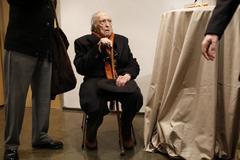 Sánchez Ferlosio en un homenaje por su 90 cumpleaños.