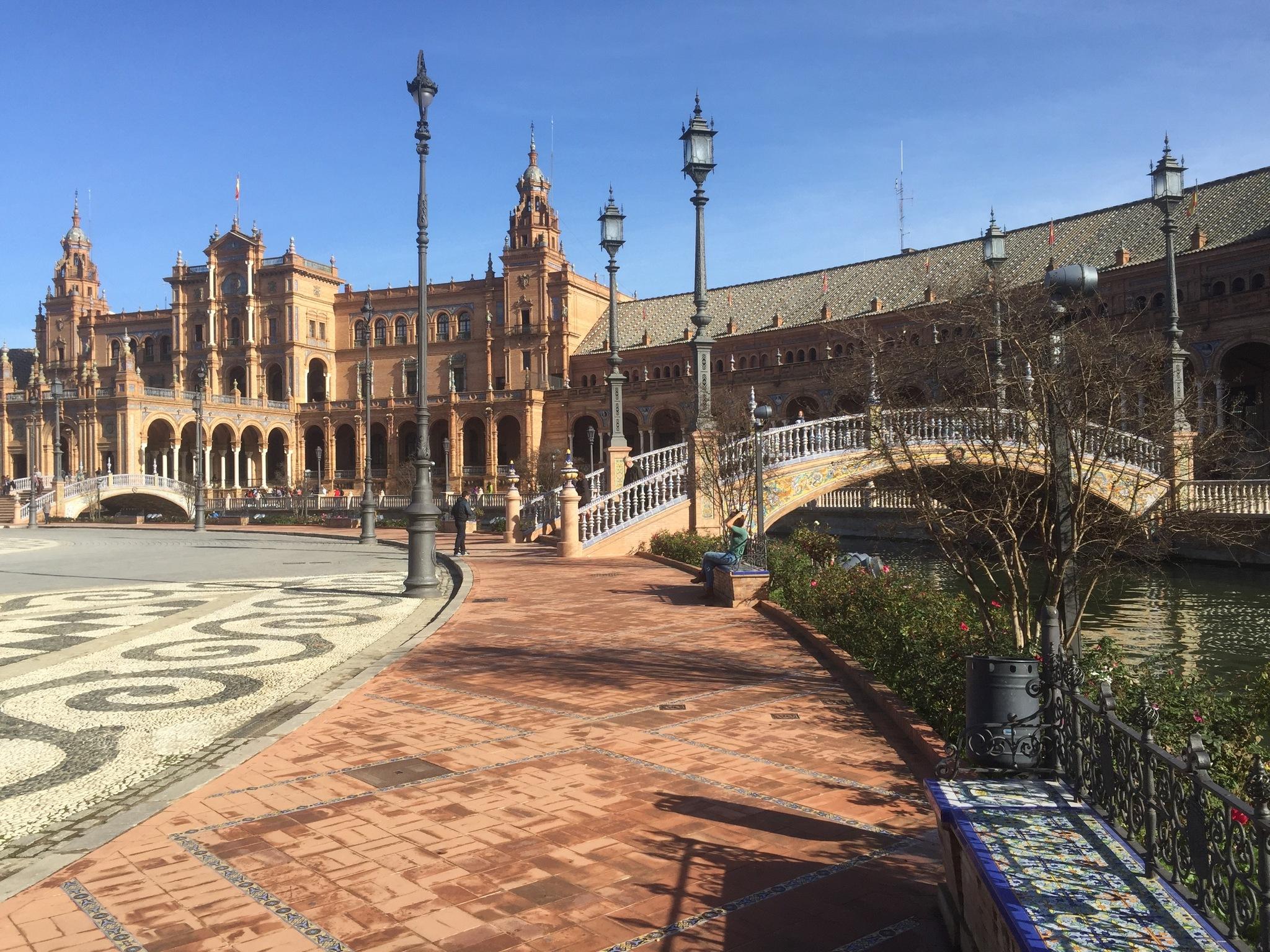 Plaza de España de Sevilla, uno de los iconos que se visitarán estos días en la WTTC.