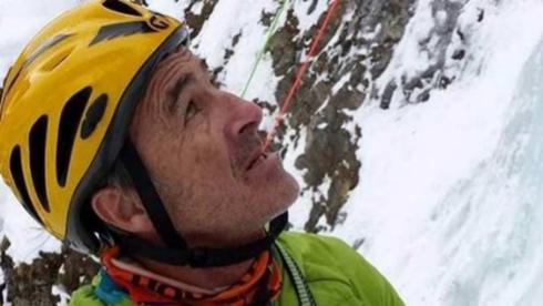 El montañero Carlos Tudela en una de sus expediciones