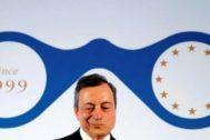 El presidente del BCE, Mario Draghi, durante una conferencia en Fráncfort la pasada semana.
