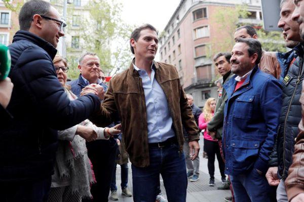 Albert Rivera, presidente de Ciudadanos, en la manifestación de la España vaciada.