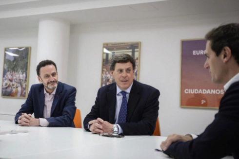Albert Rivera, Edmundo Bal y Albert Rivera, reunidos en Madrid