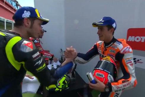 Rossi y Márquez, en Termas de Río Seco.