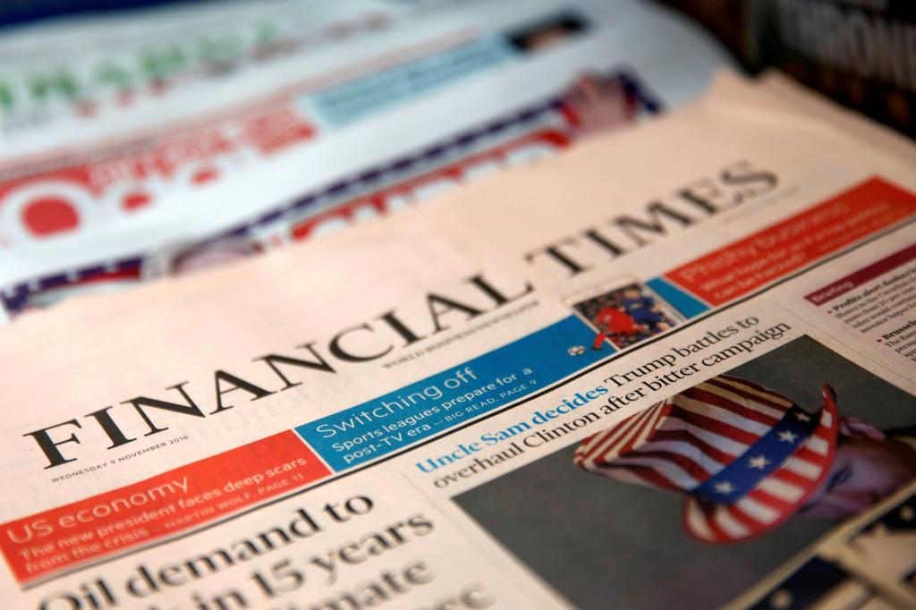 El negocio digital del  'Financial Times'  supone un 75% del total.