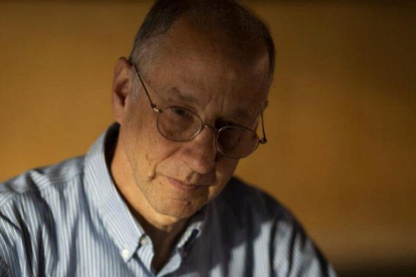 David Weinberger durante la entrevista en Medialab Prado.
