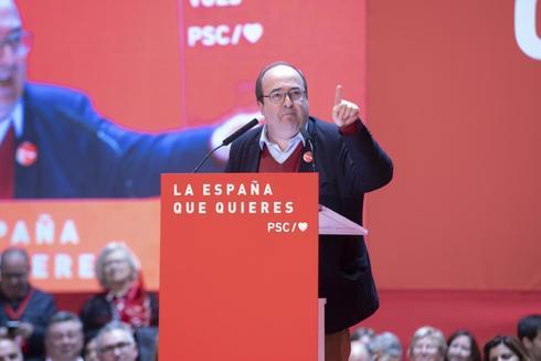 Miquel Iceta, durante un acto del PSC en Tarragona