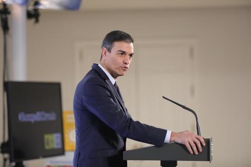 Pedro Sánchez, en un acto en Moncloa sobre pobreza infantil