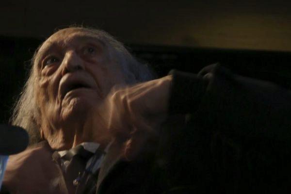 Rafael Sánchez Ferlosio en su casa de Madrid.