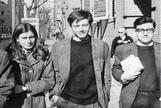 Lola González, Enrique Ruano y Javier Sauquillo, en Madrid, en los años 70.