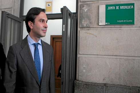 José María González Mejías, en una de sus citaciones en el juzgado de Sevilla.