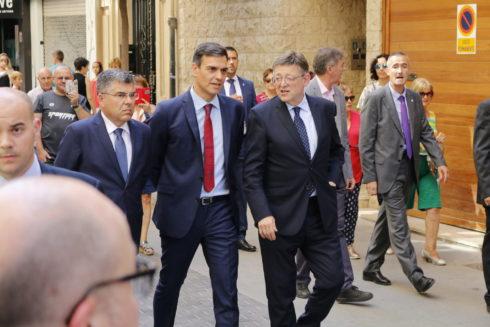Pedro Sánchez, en Castellón el pasado julio.