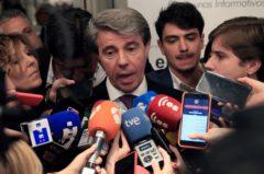 Ángel Garrido, presidente de la Comunidad de Madrid se dirige a los medios