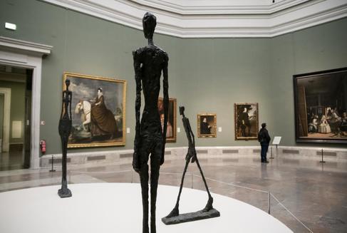 Una imagen de la exposición de Giacometti en el museo del Prado.