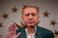 RecepTayyip Erdogan, durante un discurso en Estambul.