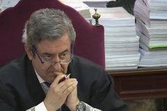 El fiscal Javier Zaragoza, durante la sesión de hoy.