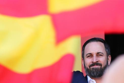 Santiago Abascal, durante el acto de Vox este sábado en Barcelona