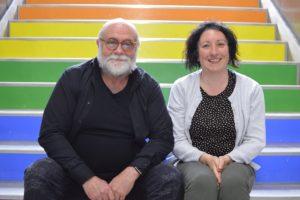 Federico Armenteros y Ainhoa Urgoitia presentan en el teatre Arniches el premiado cortometraje 'Visibles'. Ahora están planteando investigar más sobre ello y presentarlo en un largometraje.
