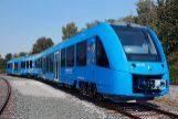 Una de las máquinas del tren Coradia iLint circulando por Alemania.