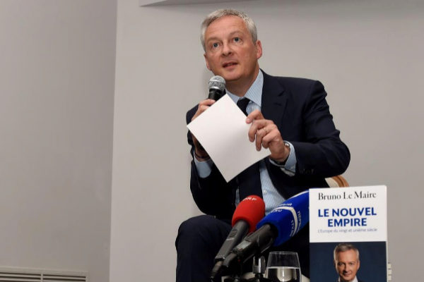 """El ministro de Economía francés pide una """"Europa poderosa"""" frente a EEUU y China"""