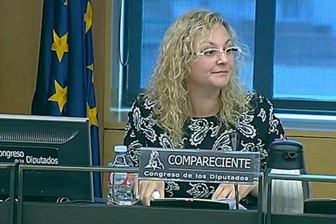 María Sevilla, durante su comparecencia de 2017 en el Congreso.