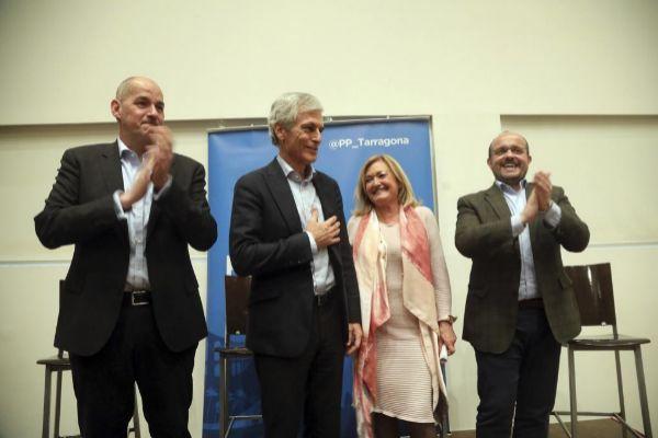 Adolfo Suárez Yllana en el acto del PP en Torredembarra