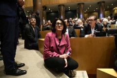 Soraya Rodríguez, el pasado febrero, en la presentación del libro de Alfonso Guerra.