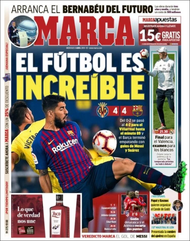 Así vienen las portadas de los diarios deportivos del miércoles