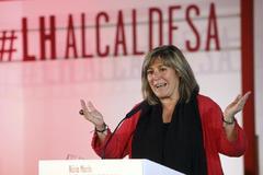 Antonio Moreno 24.03.2019 Barcelona Cataluña. Presentación de la candidata por PSC de Hospitalet <HIT>Núria</HIT> <HIT>Marín</HIT> alcaldesa.