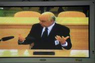 Francisco González declara como testigo en el caso Bankia,en la Audiencia Nacional.